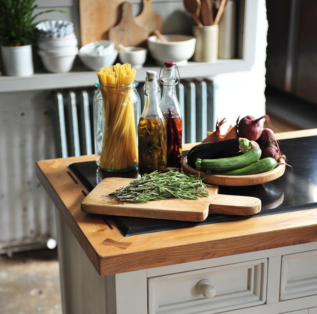 Rosemary Oils Vegetables Chopping Board Pasta