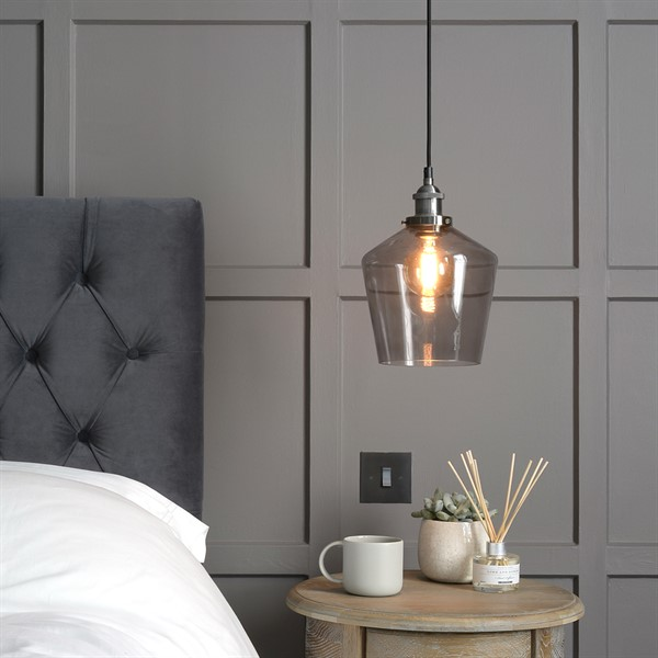 guest-bedroom-madison-smoked-glass-pendant-light