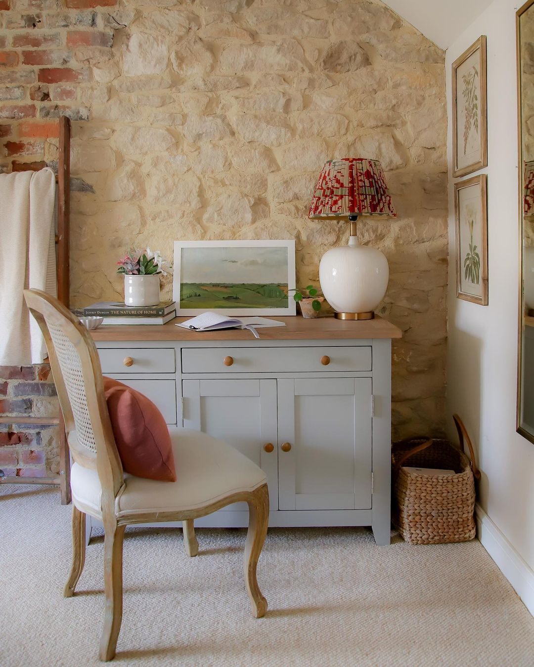 A perfect home office set up featuring our Chester Dove Grey hidden desk