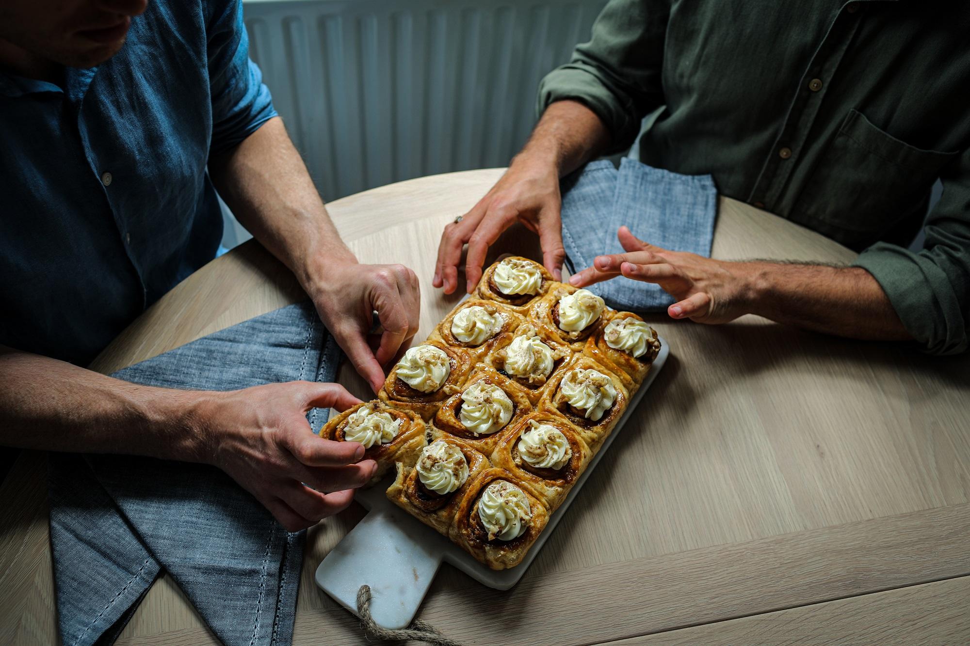 Happiest Together | Enjoying Cinnamon Rolls