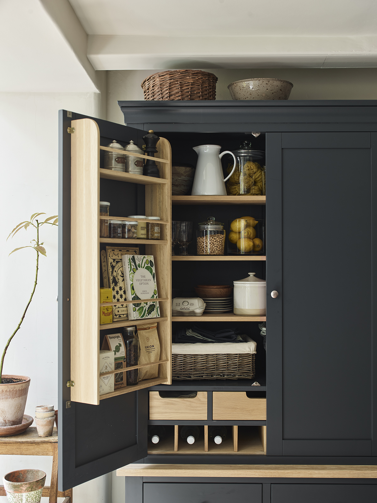 Our larders and pantries offers an abundance of storage behind double doors