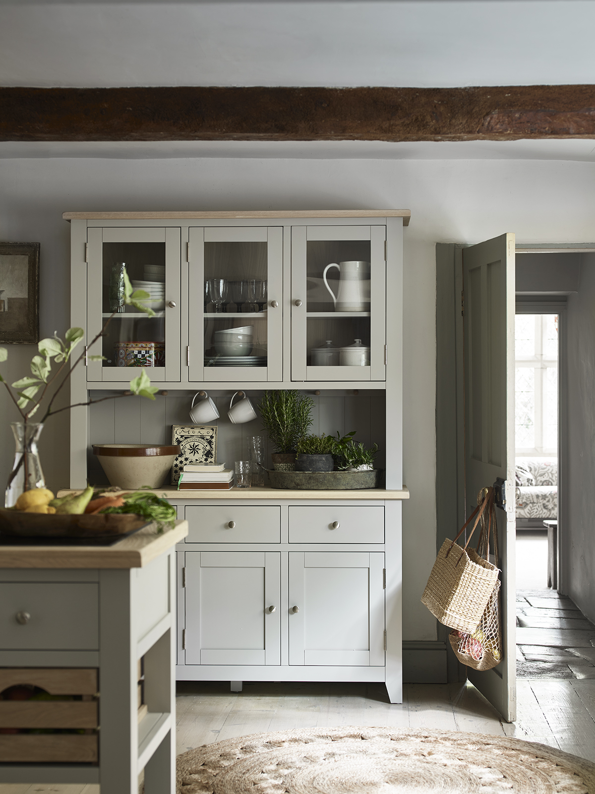 Our Chester kitchen dresser offers open and closed storage