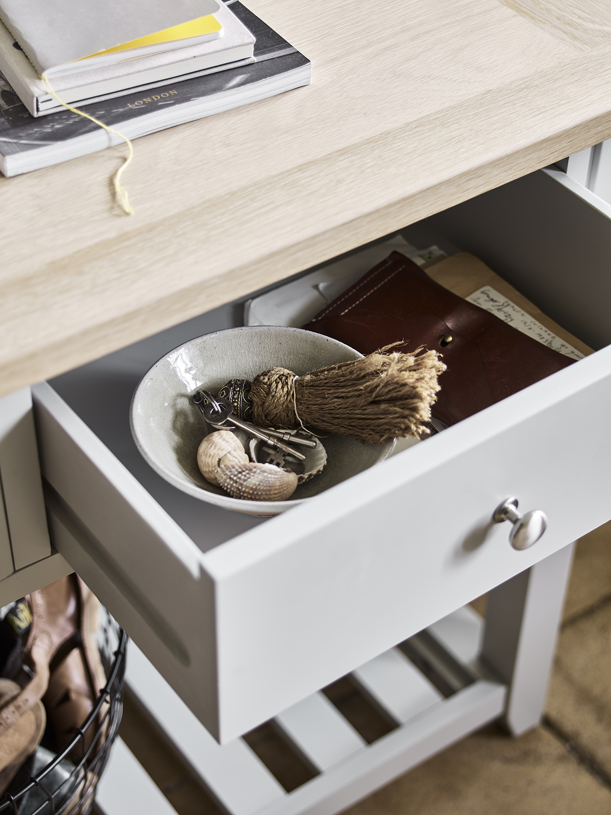 Our console tables offer storage aplenty for hallways