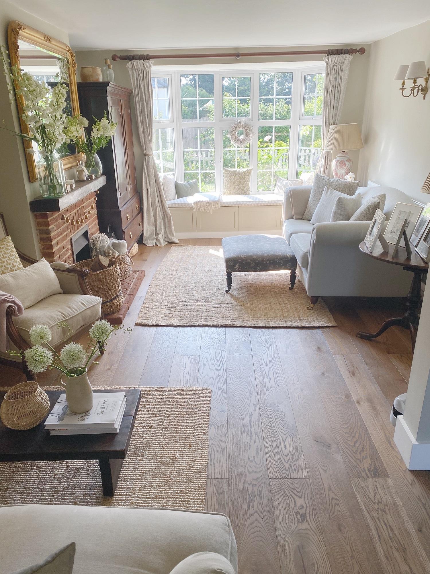 Pretty yet practical living room