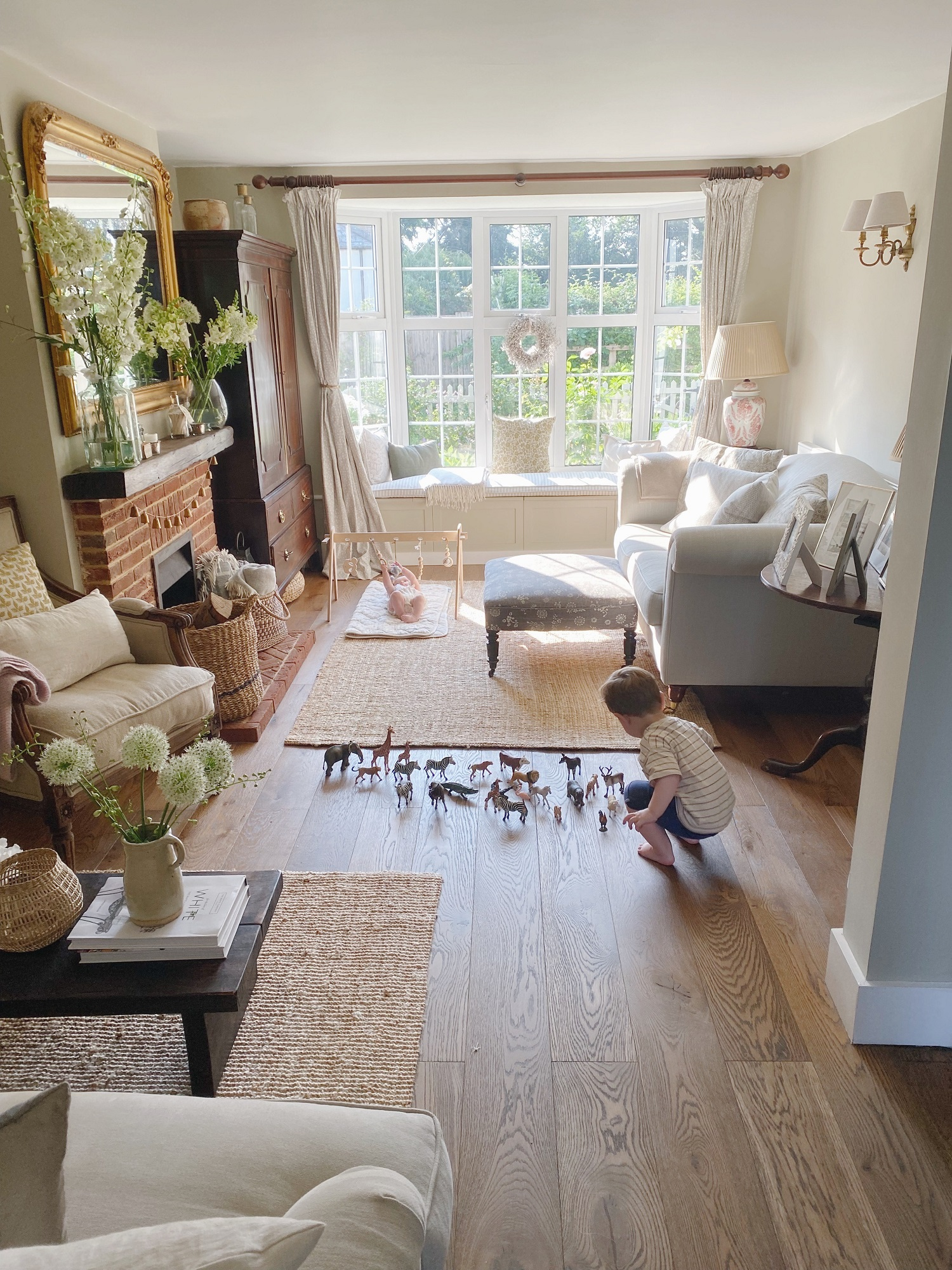 The cottage living room