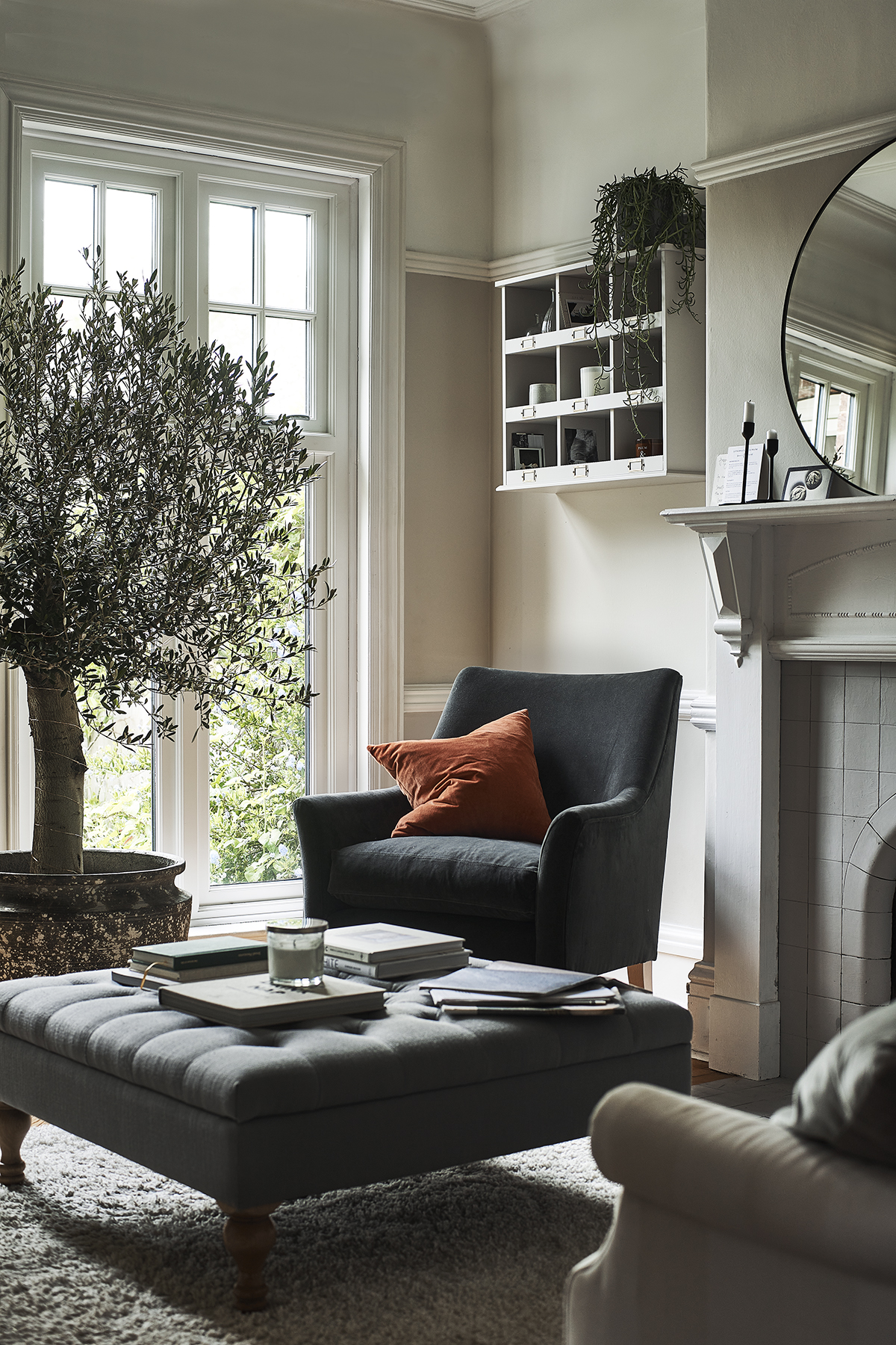 Jennifer Rothbury family home - Clover coffee table alongside new upholstery