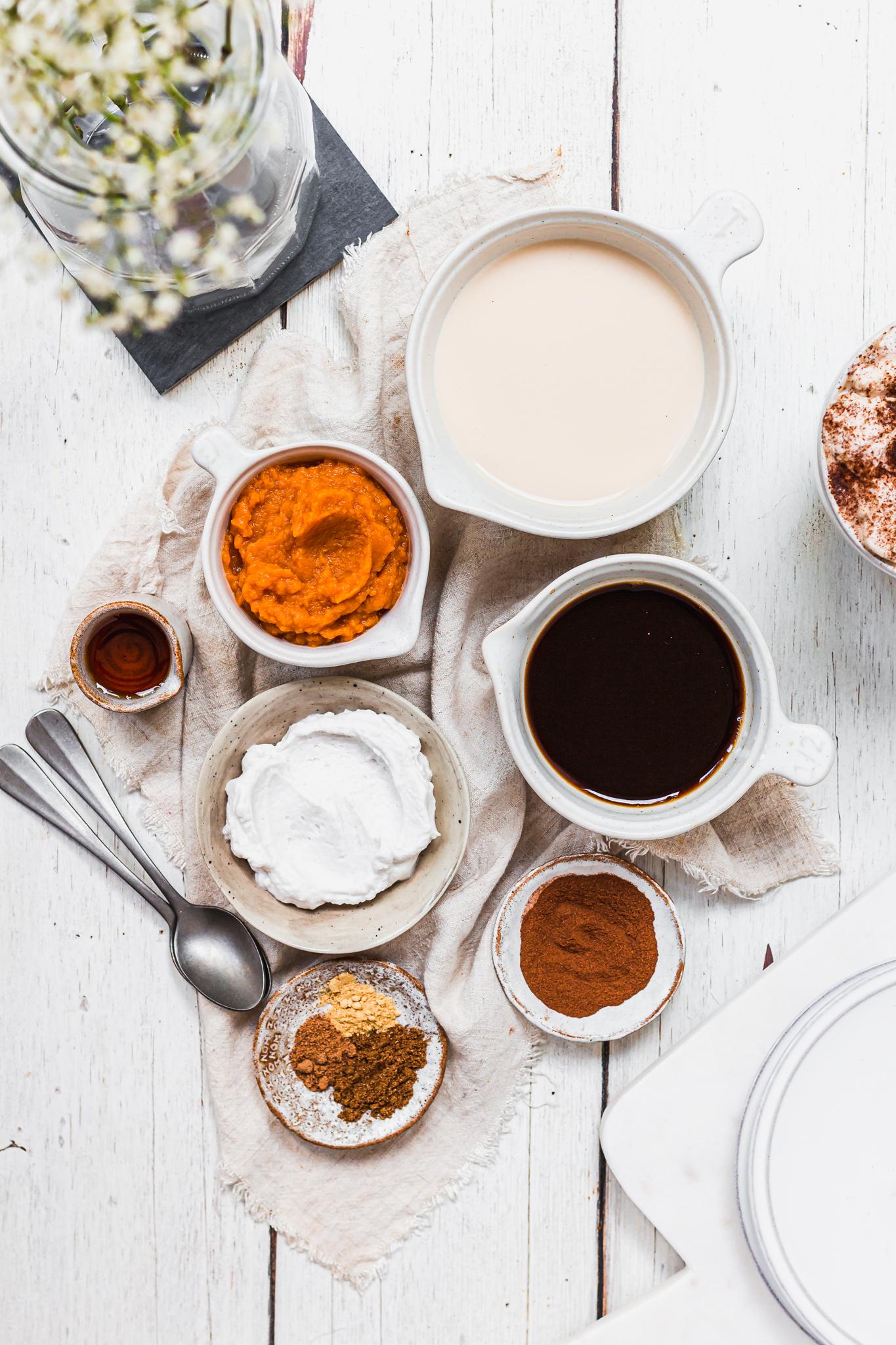 Measuring out pumpkin-spiced ingredients in Bybrook measuring cups
